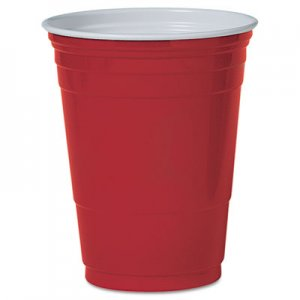 Dart Plastic Party Cold Cups, 16oz, Red, 50/Pack DCCP16RPK DCC P16RPK