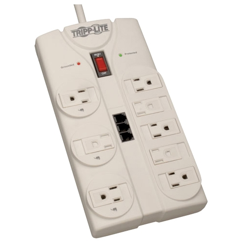 Tripp Lite 8-Outlet Surge Protector TAA Compliant TLP808TELTAA