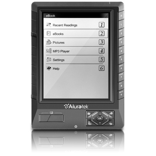 Aluratek LIBRE eBook Reader PRO Digital Text Reader AEBK01F