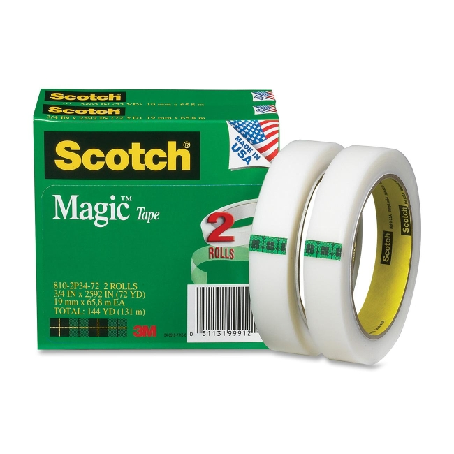 3M Magic Invisible Tape 810-2P34-72 MMM8102P3472