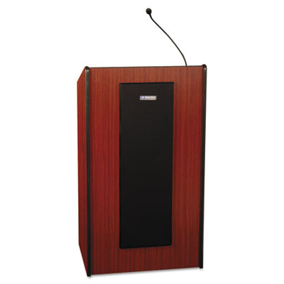 AmpliVox Presidential Plus Lectern, 25-1/2w x 20-1/2d x 46-1/2h, Mahogany APLS450MH S450-MH