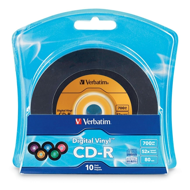 Verbatim Digital Vinyl CD-R 80MIN 700MB 10pk Blister 96858