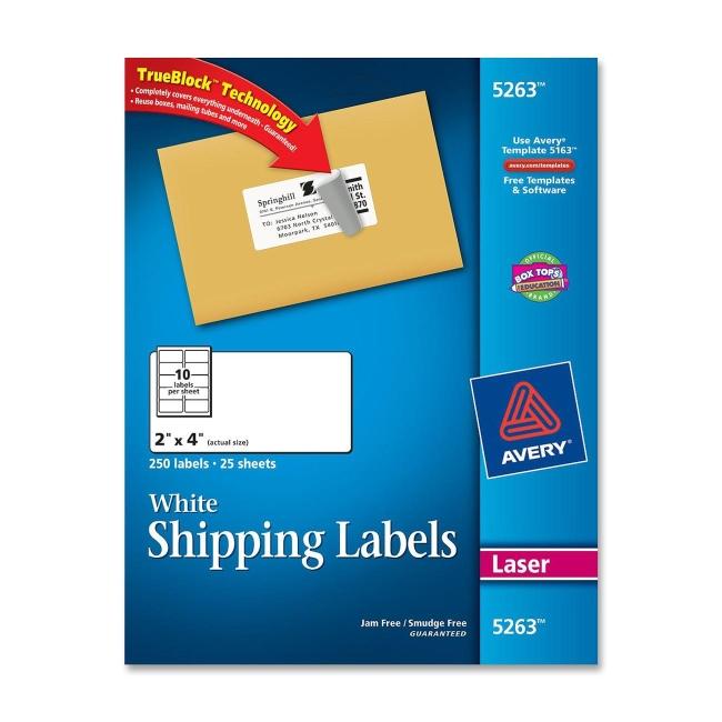 avery easy peel address label 5263