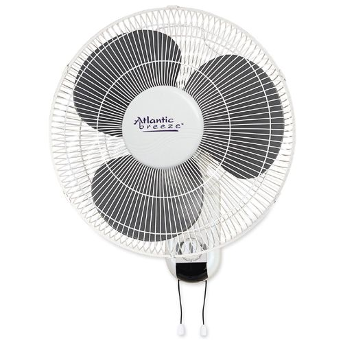 "Atlantic Breeze 16"" Wall Mount Fan with Pull Chains 49256 LLR49256"