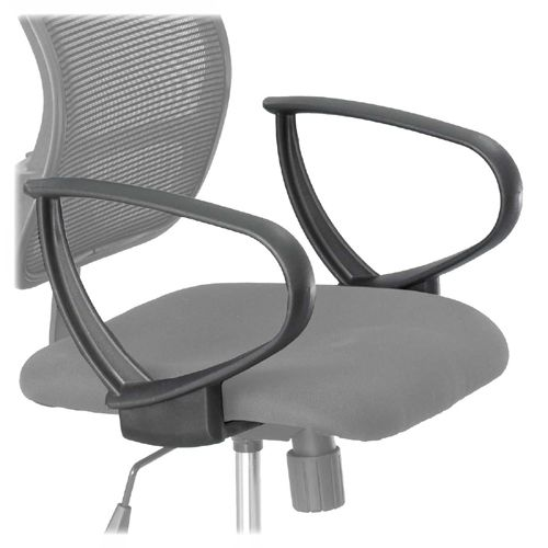 Safco Vue Extended Height Mesh Chair Loop Arms 3396BL SAF3396BL