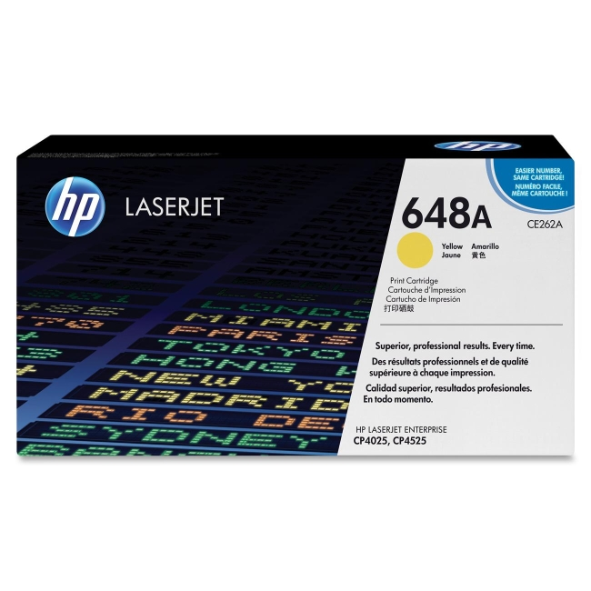 HP Yellow Original LaserJet Toner Cartridge CE262A 648A