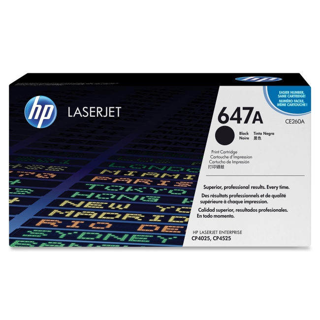 HP Black Original LaserJet Toner Cartridge CE260A 647A