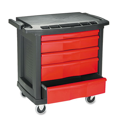 Five Drawer Mobile Workcenter 32 1 2w X 20d X 33 1 2h