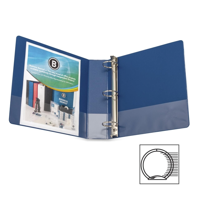 Business Source Basic Round Ring Binder with Pockets 16464 BSN16464