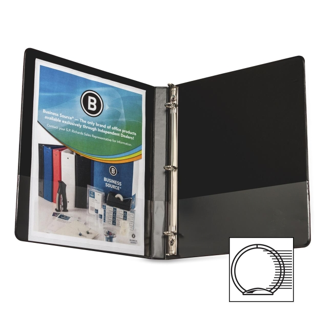 Business Source Round Ring Binder 28526 BSN28526