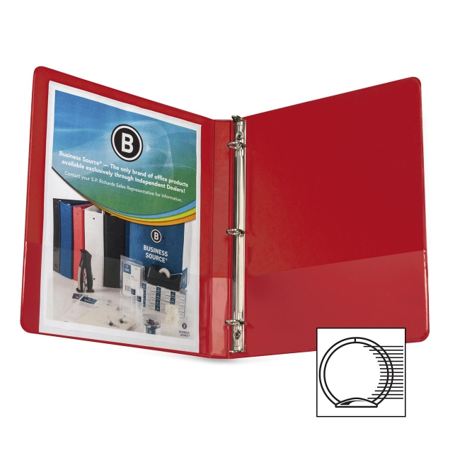 Business Source Round Ring Binder 28527 BSN28527