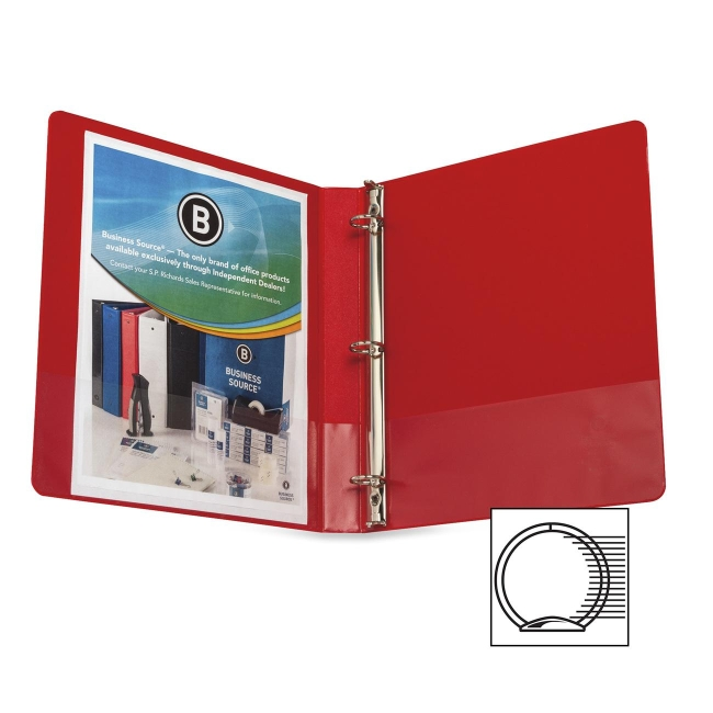 Business Source Round Ring Binder 28550 BSN28550