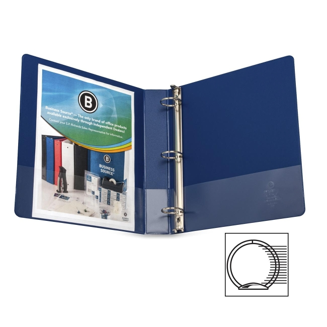 Business Source Round Ring Binder 28551 BSN28551
