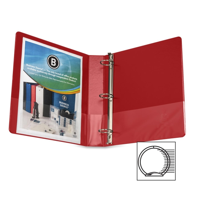 Business Source Round Ring Binder 28553 BSN28553