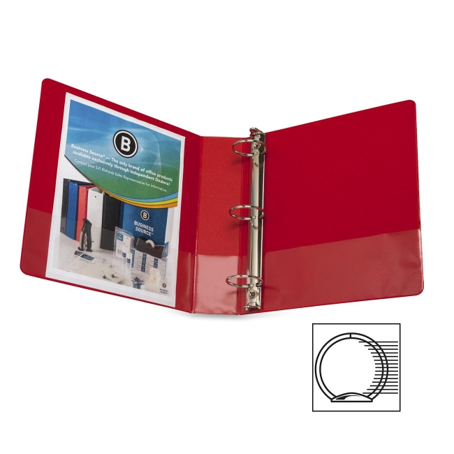 Business Source Round Ring Binder 28660 BSN28660
