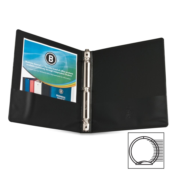 Business Source Round Ring Presentation Binder 28771 BSN28771