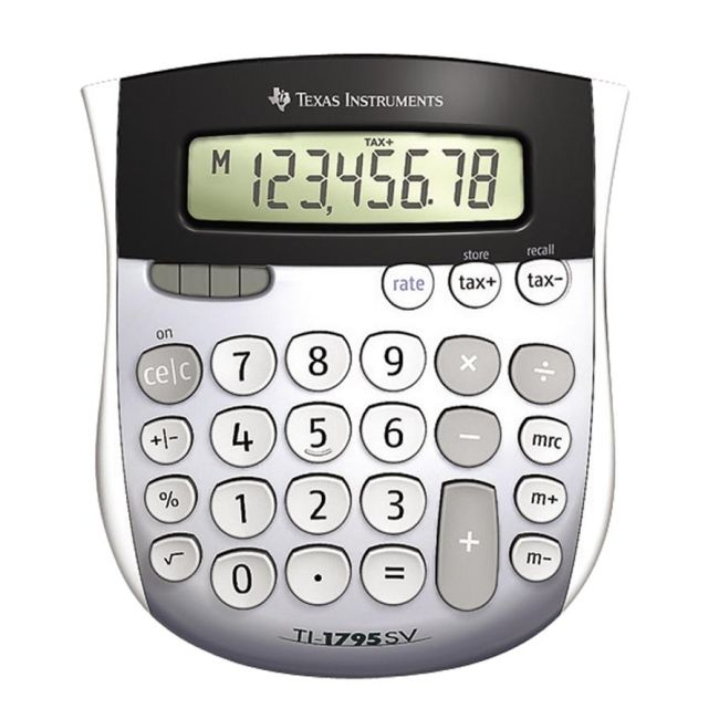 Texas Instruments Calculator with Tax Key TI-1795SV TEXTI1795SV