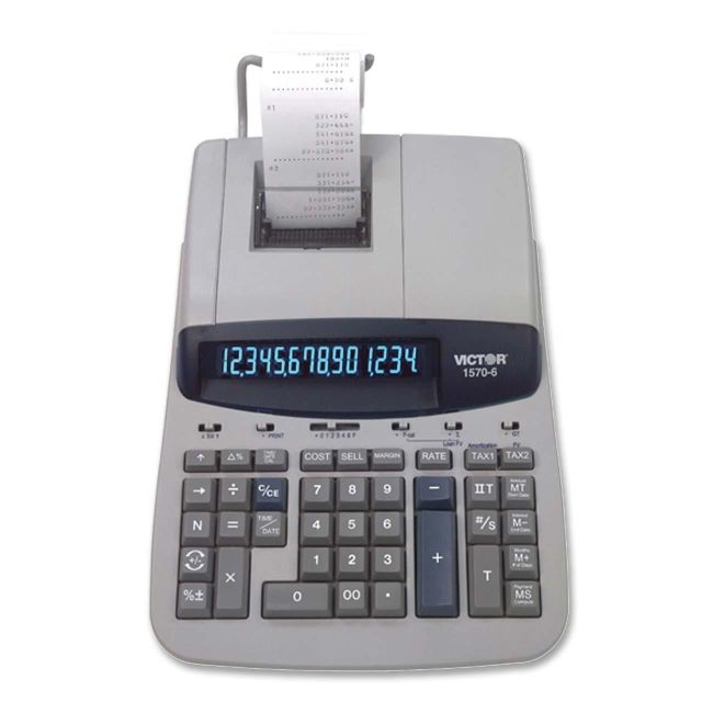 Victor Technology 1560-6 Heavy-Duty Printing Calculator 1570-6 VCT15706