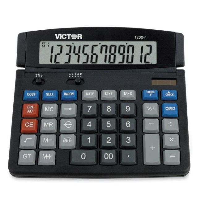 Victor Technology Desktop Calculator 1200-4 VCT12004