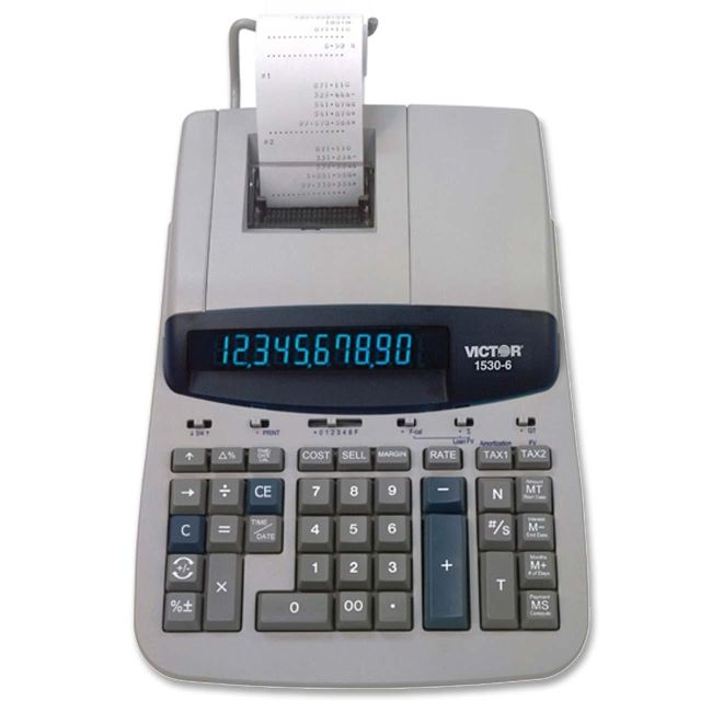 Victor Technology Heavy Duty Commercial Printing Calculator 1530-6 VCT15306
