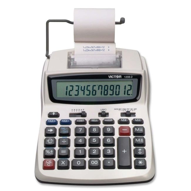 Victor Technology Printing Calculator 1208-2 VCT12082