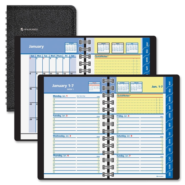 QuickNotes Weekly and Monthly Self-Management System MeadWestvaco 76-03-05 AAG760305