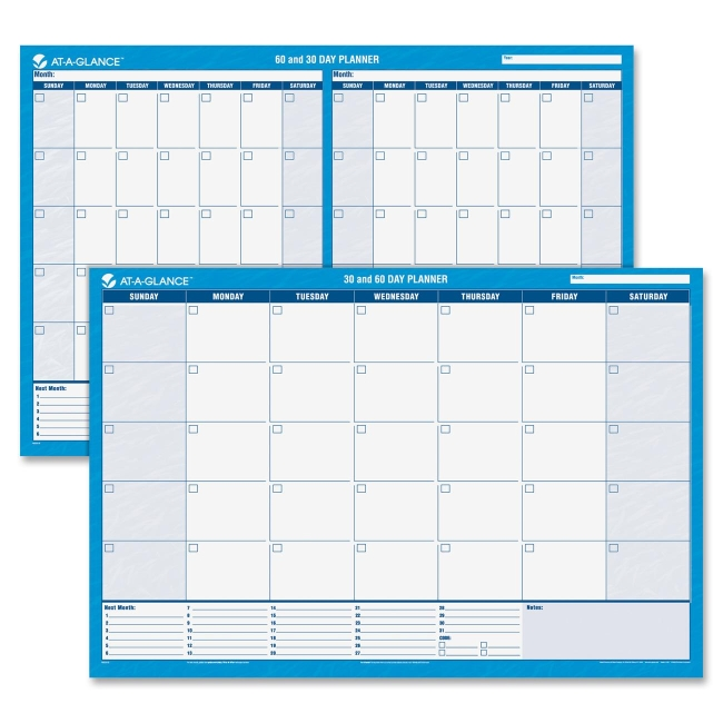Mead Undated Horizontal Wall Planner PM333-28 AAGPM33328
