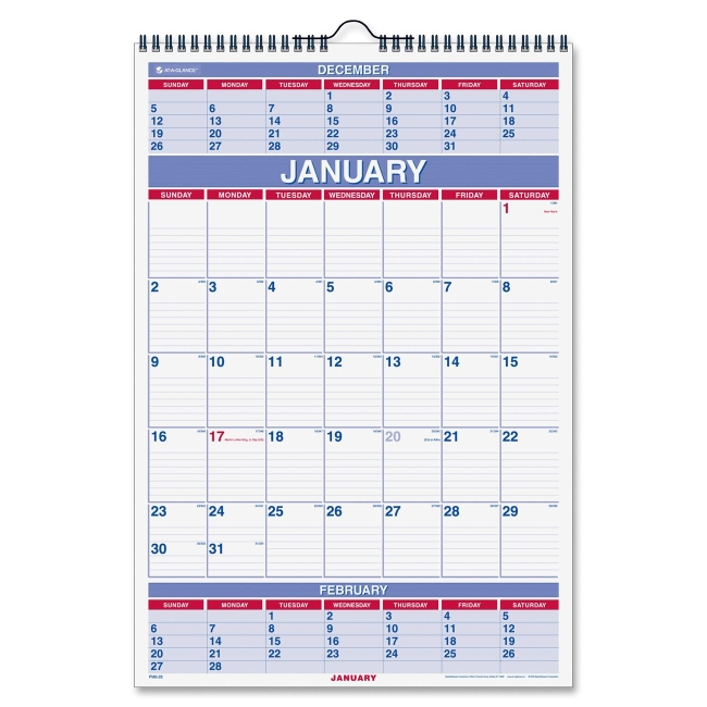 Mead 3-Months Wall Calendar PM6-28 AAGPM628