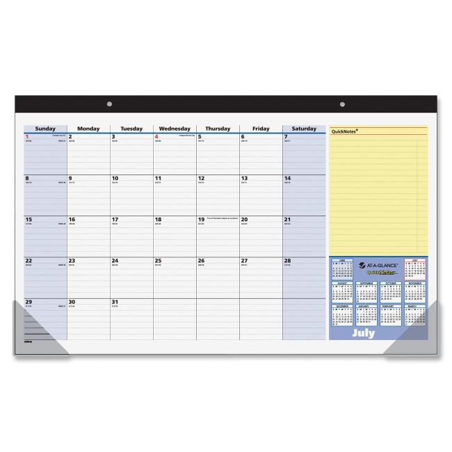 Weekly Calendar Desk Pad : Printer