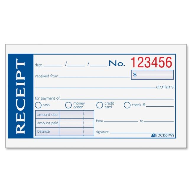 adams money rent receipt book fill out