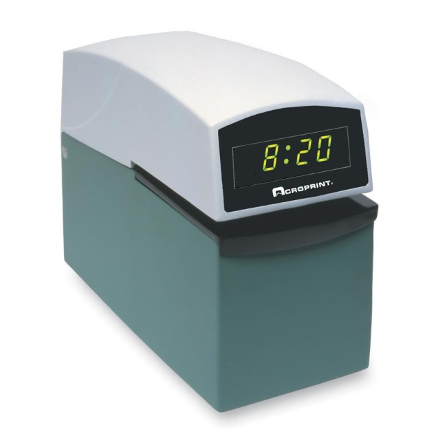 Acroprint time recorder company e series document control for Uncontrolled document stamp
