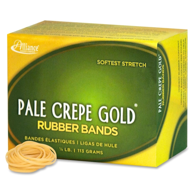 pale crepe gold rubber band alliance rubber 20129 all20129 rubber bands. Black Bedroom Furniture Sets. Home Design Ideas