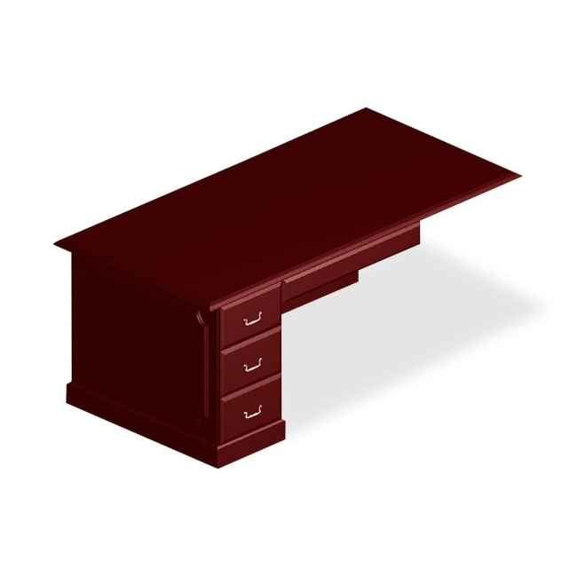 DMi Governor's Box/File Single Pedestal Desk 7350-570 DMI7350570
