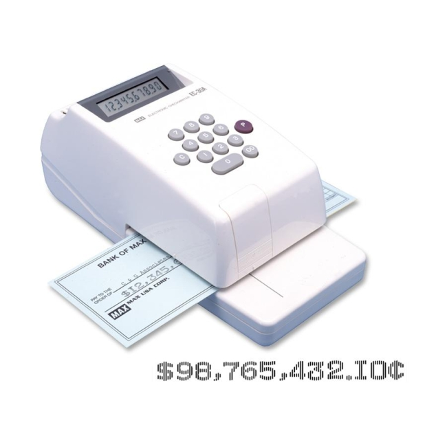 printing check amounts by machine in indelible ink is an exle of