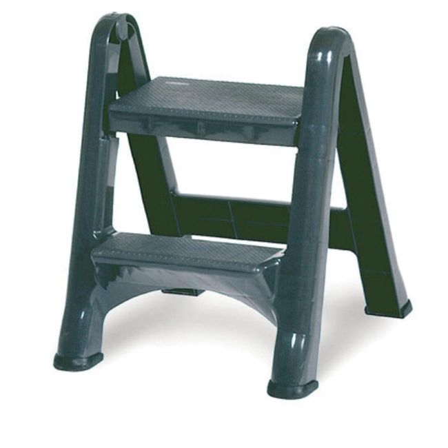 E Z Foldable Two Step Stool Rubbermaid Fg420903cyld