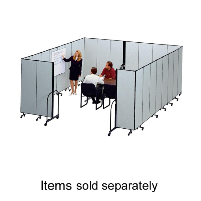 Screenflex FREEstanding Commercial Editable Portable Room Divider CFSL607DG SCXCFSL607DG