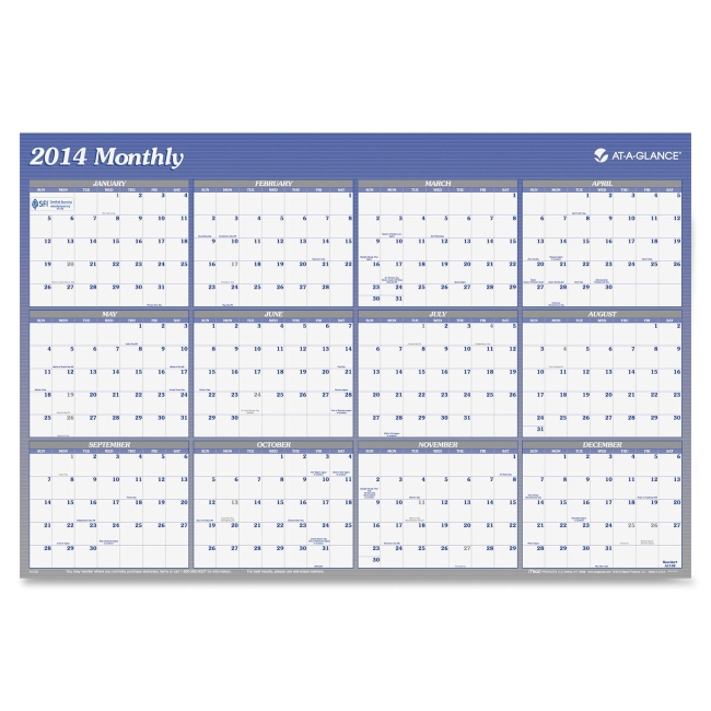 Mead Reversible Monthly Two-Sided Planner A1152 AAGA1152