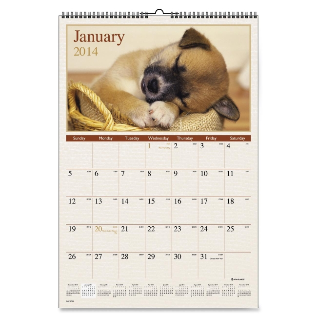Mead Large Puppies Monthly Wall Calendar DMW16728 AAGDMW16728