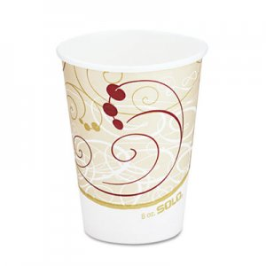 Dart Hot Cups, Symphony Design, 8oz, Beige, 1000/Carton SCC378SMJ8000 378SM-J8000