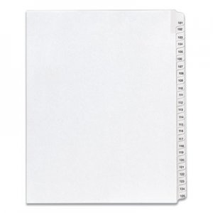 Avery Allstate-Style Legal Exhibit Side Tab Dividers, 25-Tab, 101-125, Letter, White AVE01705 01705