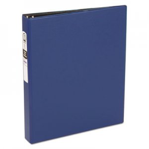 "Avery Economy Non-View Binder with Round Rings, 11 x 8 1/2, 1"" Capacity, Blue AVE03300 03300"
