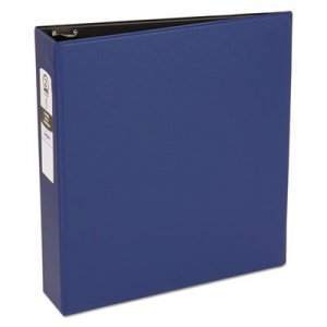 "Avery Economy Non-View Binder with Round Rings, 11 x 8 1/2, 2"" Capacity, Blue AVE03500 03500"