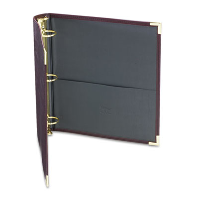 "Samsill Classic Collection Ring Binder, 11 x 8 1/2, 1 1/2"" Cap, Burgundy SAM15154 15154"