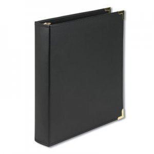 "Samsill Classic Collection Ring Binder, 11 x 8 1/2, 1 1/2"" Cap, Black SAM15150 15150"