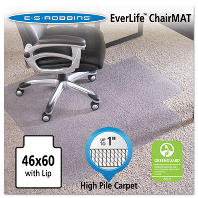 "ES Robbins 46x60 Lip Chair Mat, 24-Hour Performance Series AnchorBar for Carpet up to 1"" ESR124375 124375"