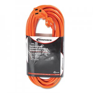 Innovera Indoor/Outdoor Extension Cord, 25ft, Orange IVR72225