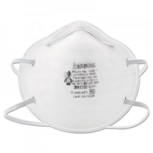 3M N95 Particle Respirator 8200 Mask, 20/Box MMM8200 142-8200