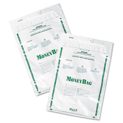 PM Company Securit Plastic Money Bags, Tamper Evident, 9 x 12, White, 50/Pack PMC58020 58020