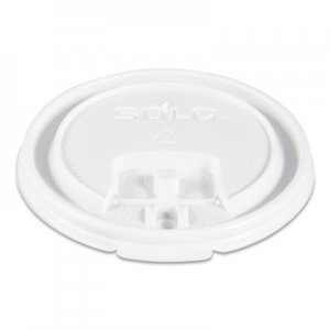Dart Lift Back and Lock Tab Cup Lids, for 8oz Cups, White, 100/Sleeve, 20 Sleeves/CT SCCLB3081 LB3081-00007