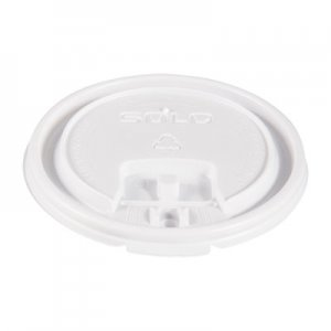 Dart Lift Back and Lock Tab Cup Lids, for 10oz Cups, White, 100/Sleeve, 20 Sleeves/CT SCCLB3101 LB3101